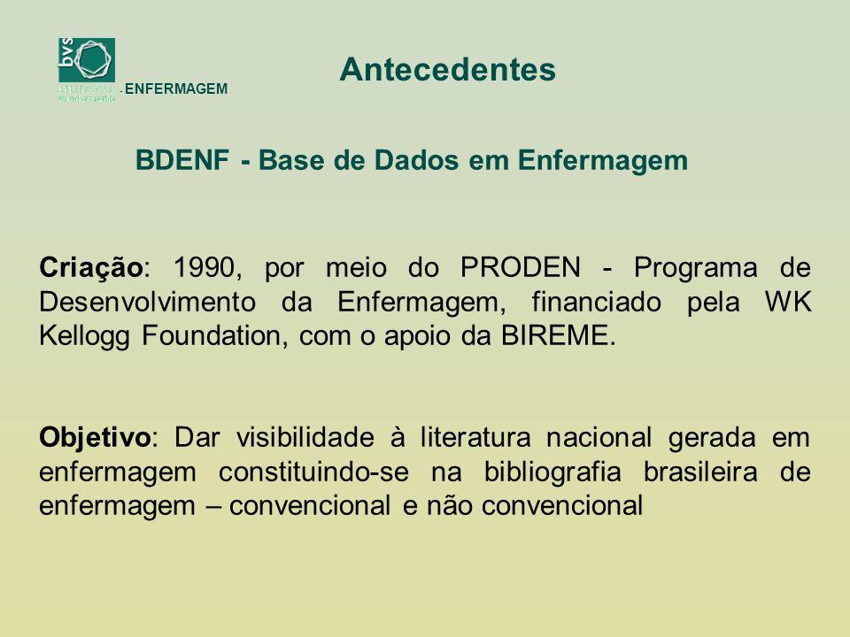 BDENF - Base de Dados em Enfermagem
