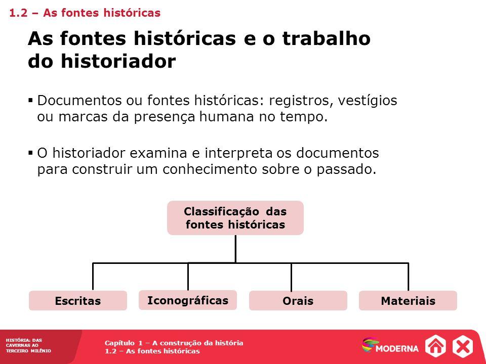 Classificação das fontes históricas