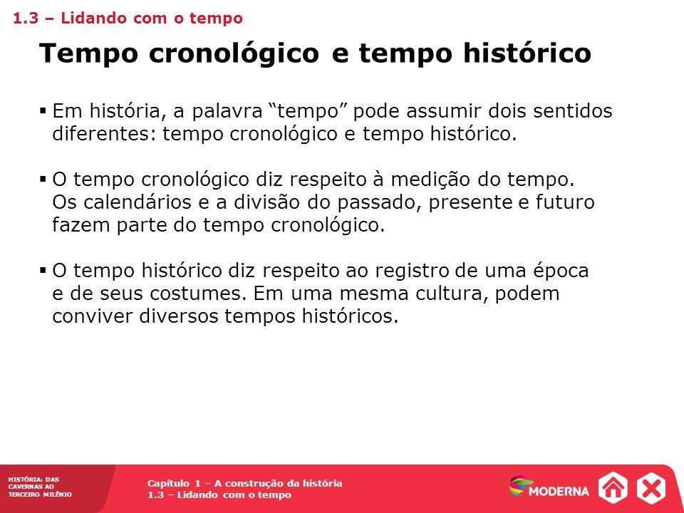 Tempo cronológico e tempo histórico