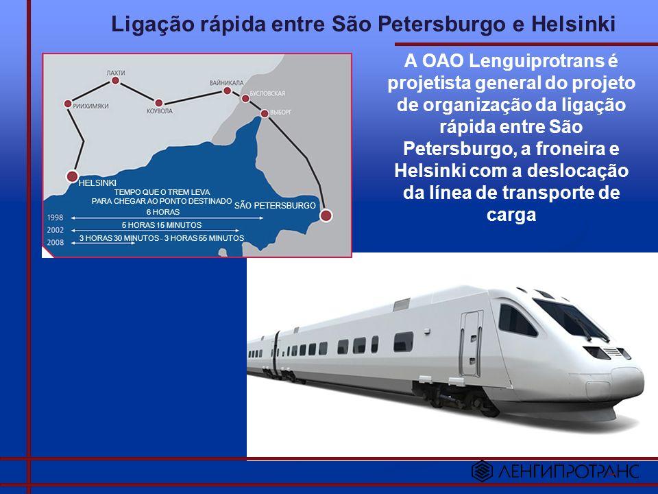 Ligação rápida entre São Petersburgo e Helsinki