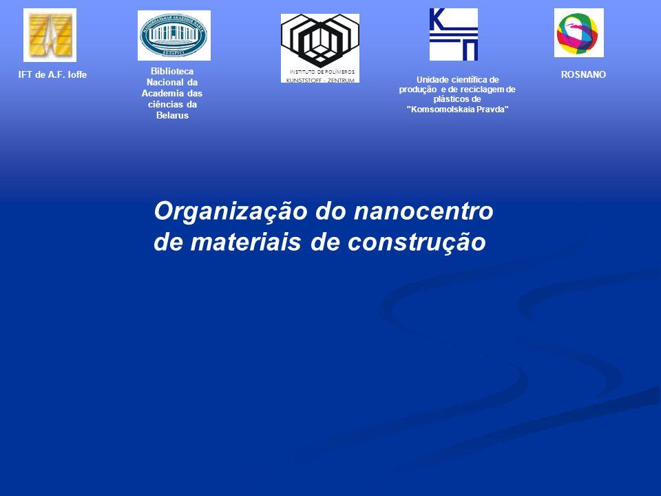 Organização do nanocentro de materiais de construção