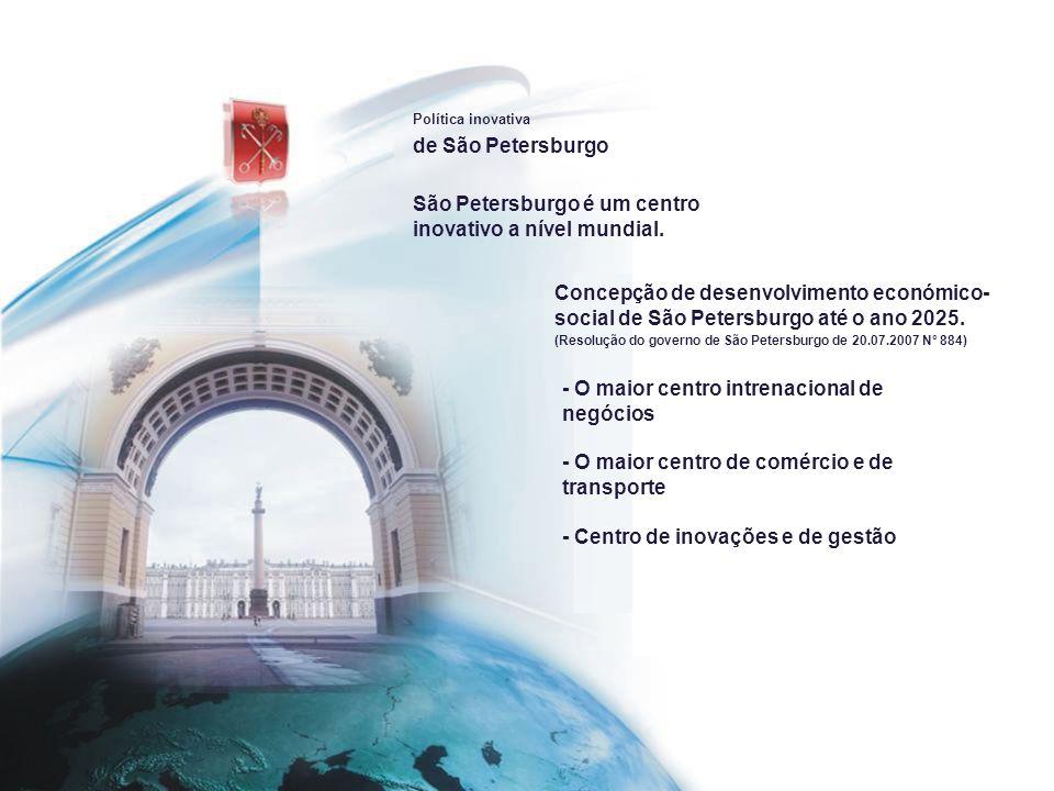 São Petersburgo é um centro inovativo a nível mundial.