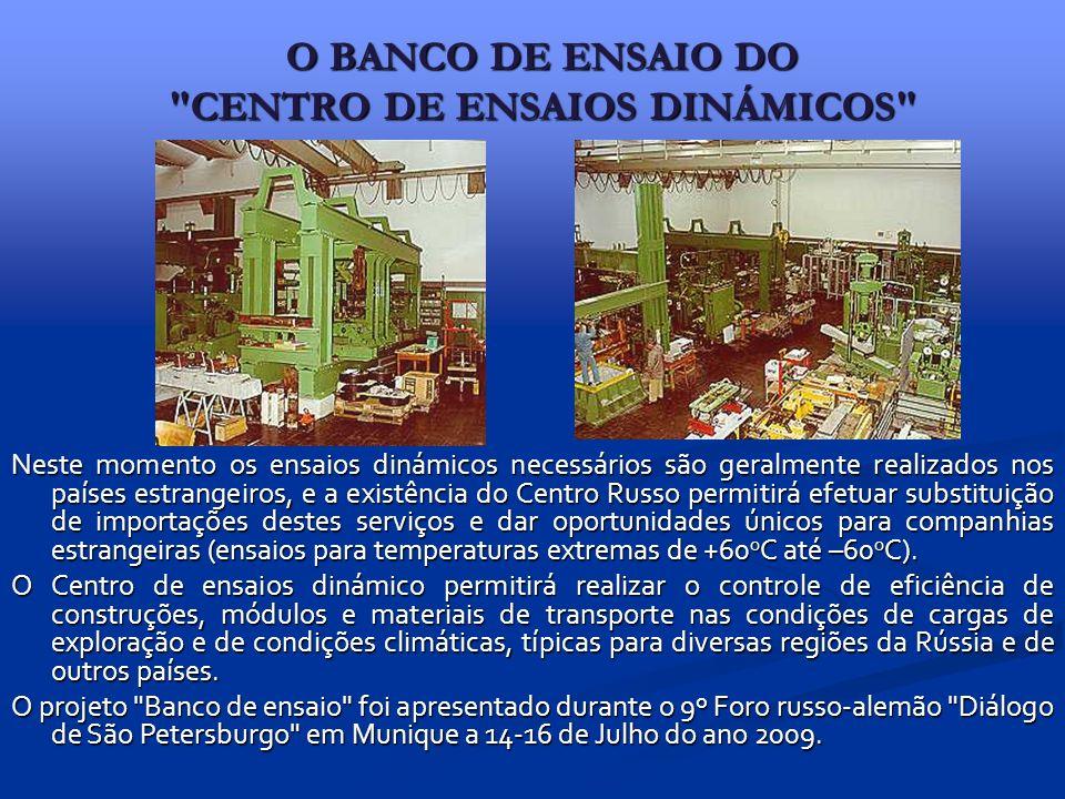 O BANCO DE ENSAIO DO CENTRO DE ENSAIOS DINÁMICOS