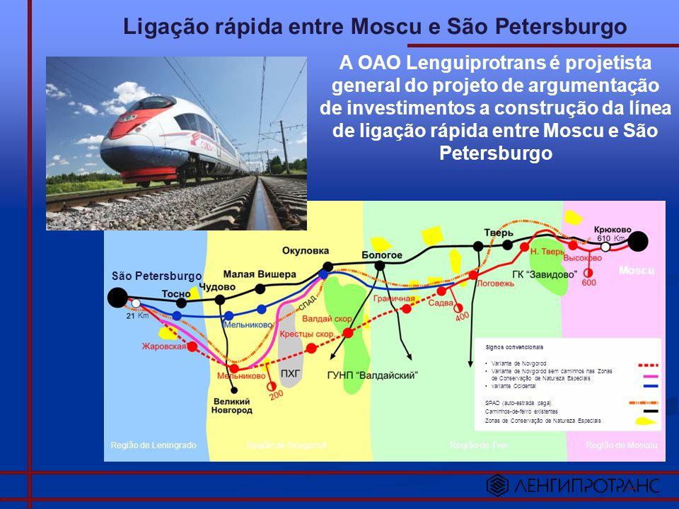 Ligação rápida entre Moscu e São Petersburgo