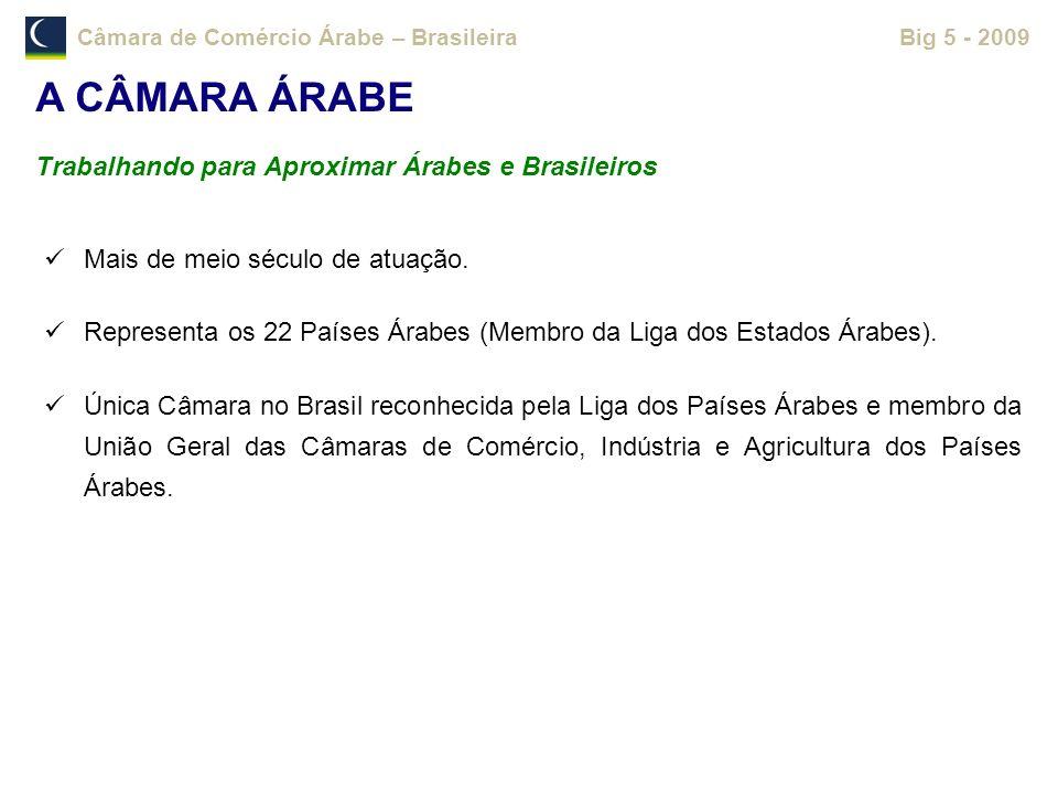 A CÂMARA ÁRABE Trabalhando para Aproximar Árabes e Brasileiros