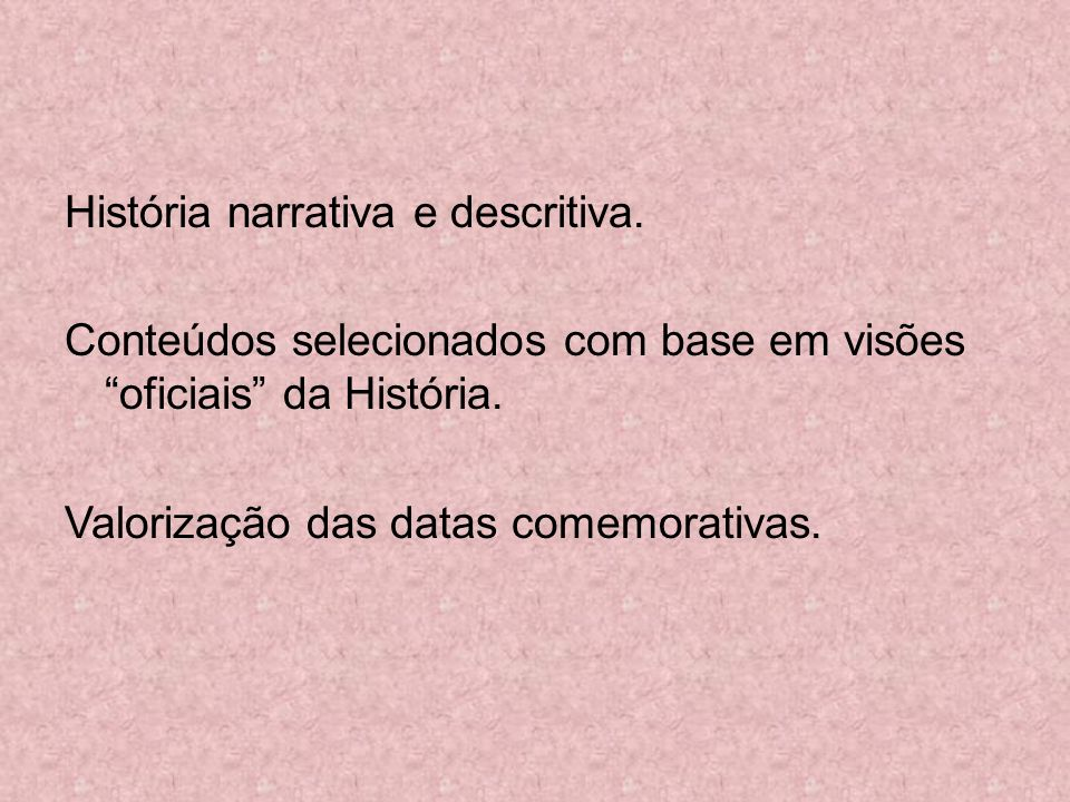 História narrativa e descritiva