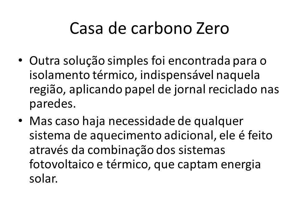 Casa de carbono Zero