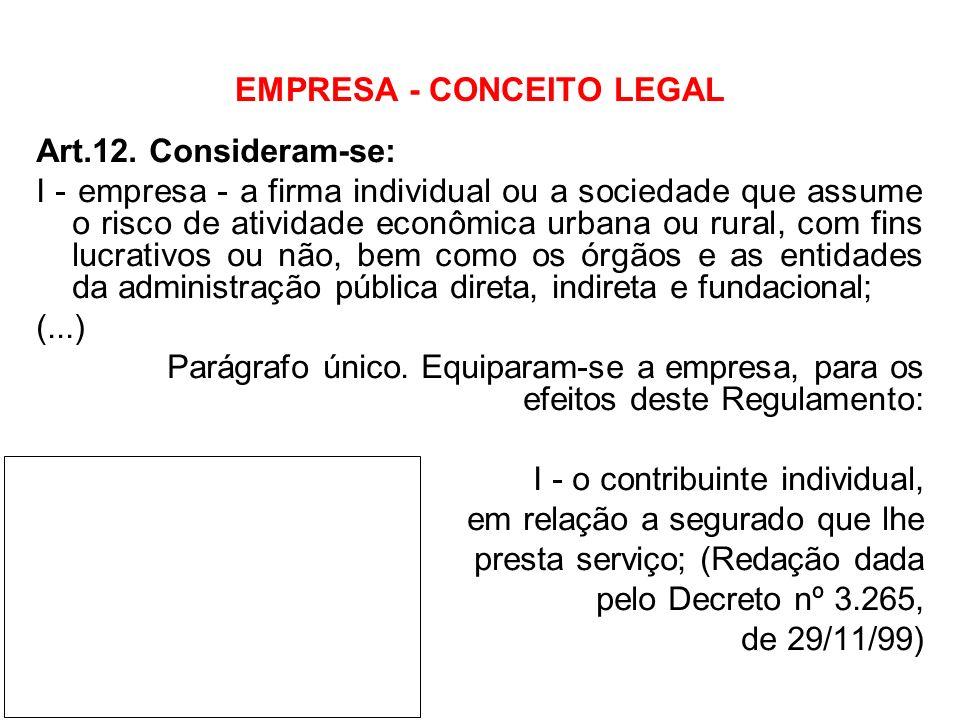 EMPRESA - CONCEITO LEGAL