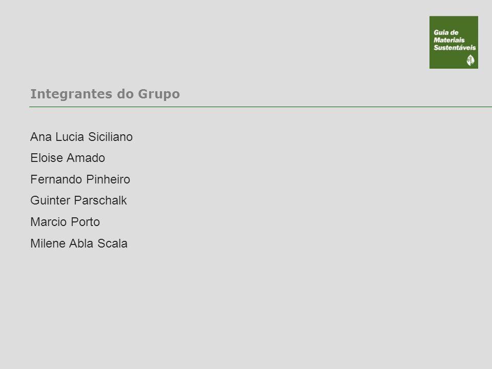 Integrantes do Grupo Ana Lucia Siciliano. Eloise Amado. Fernando Pinheiro. Guinter Parschalk. Marcio Porto.