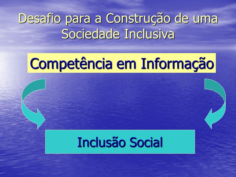 Desafio para a Construção de uma Sociedade Inclusiva