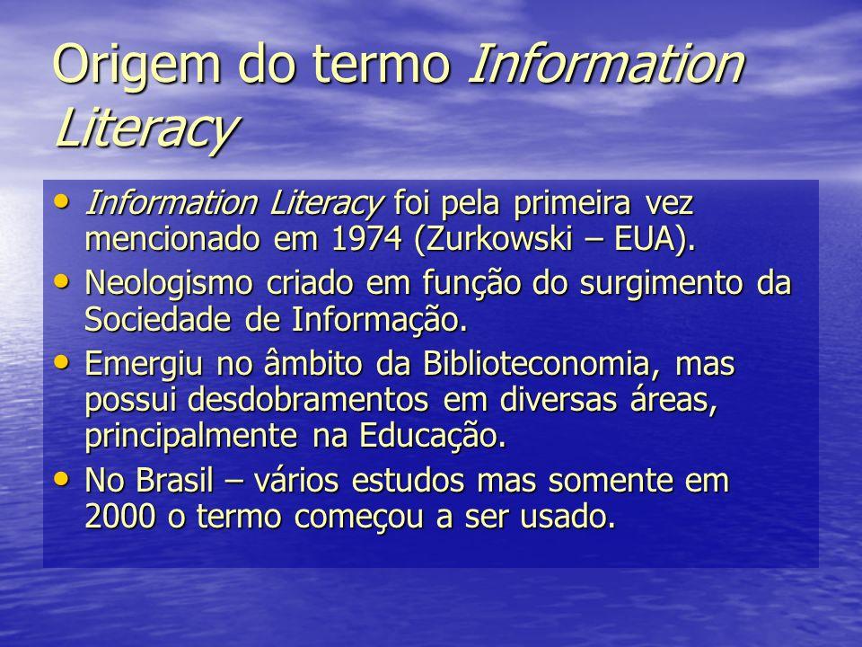 Origem do termo Information Literacy