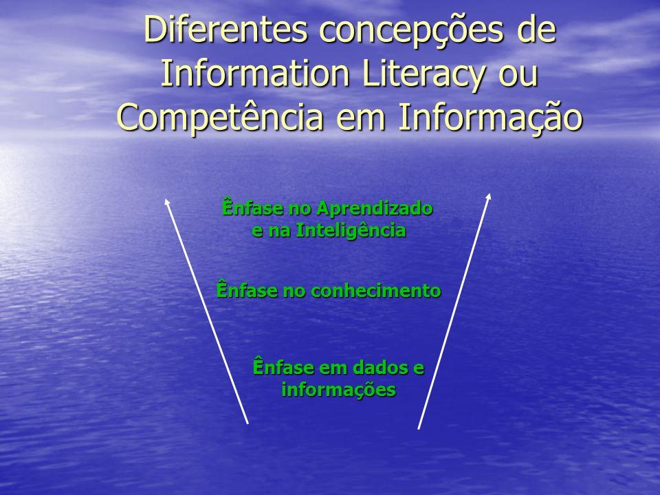 Ênfase em dados e informações