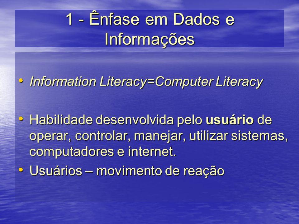 1 - Ênfase em Dados e Informações