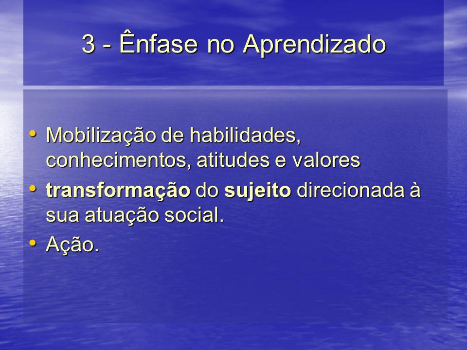 3 - Ênfase no Aprendizado