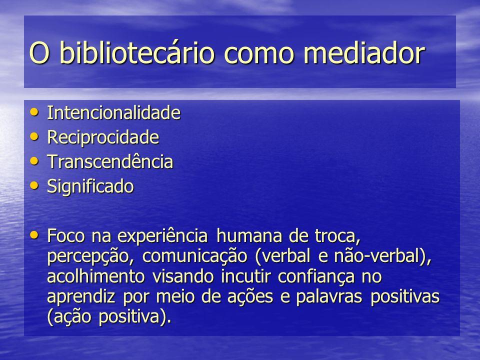 O bibliotecário como mediador