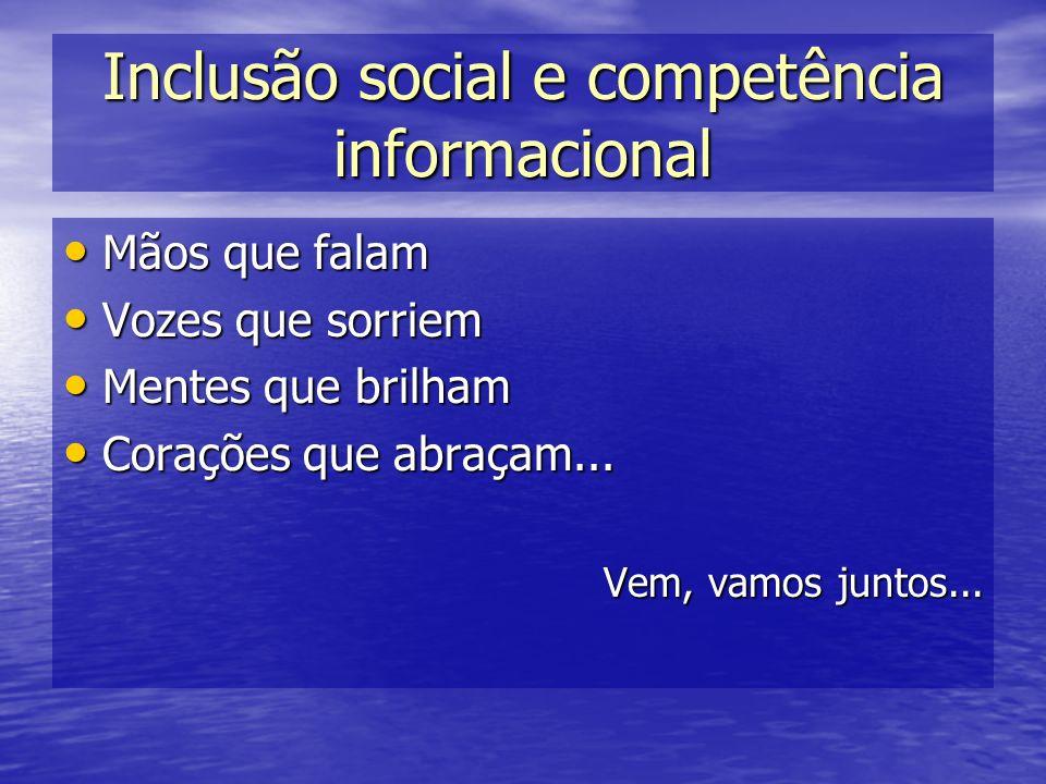 Inclusão social e competência informacional