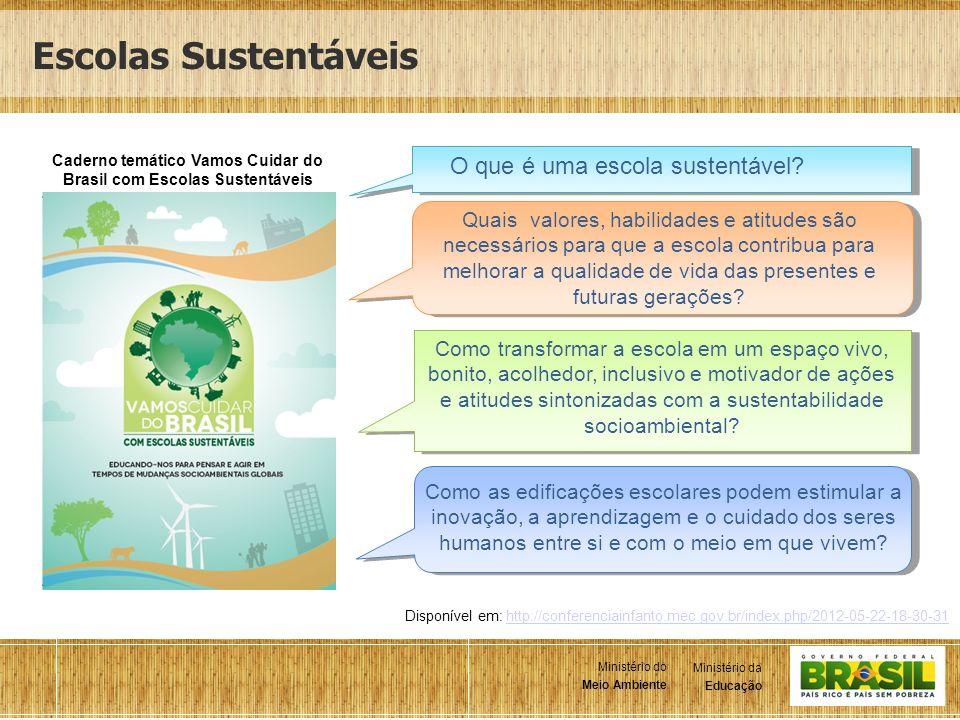 Caderno temático Vamos Cuidar do Brasil com Escolas Sustentáveis