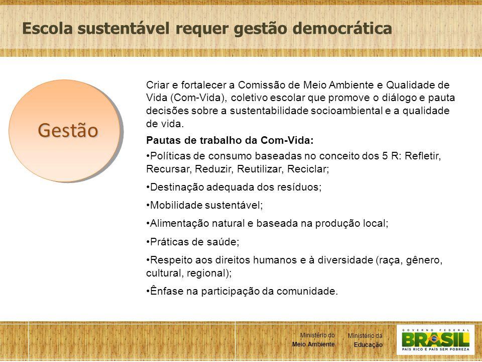 Gestão Escola sustentável requer gestão democrática