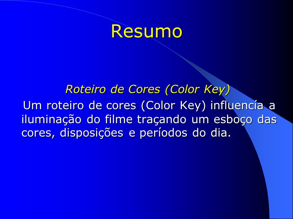 Roteiro de Cores (Color Key)