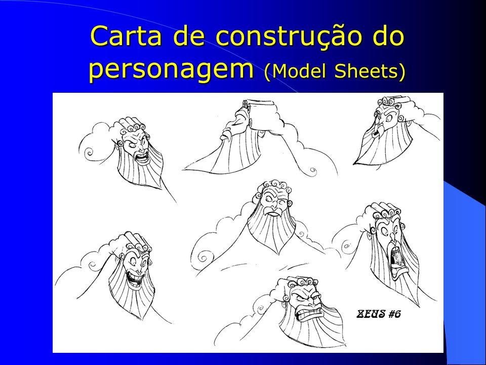 Carta de construção do personagem (Model Sheets)