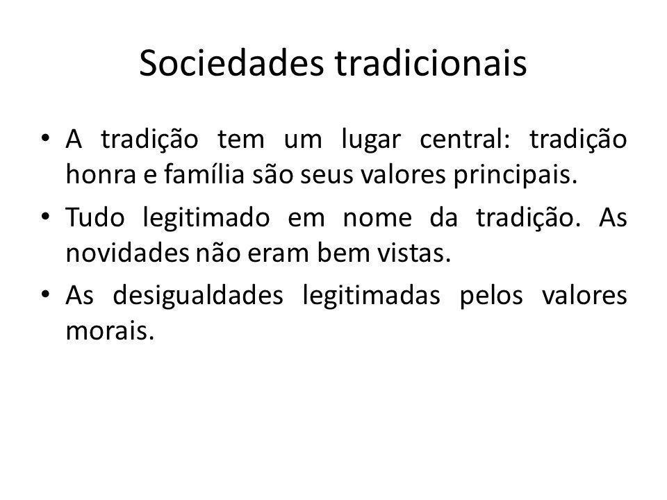Sociedades tradicionais