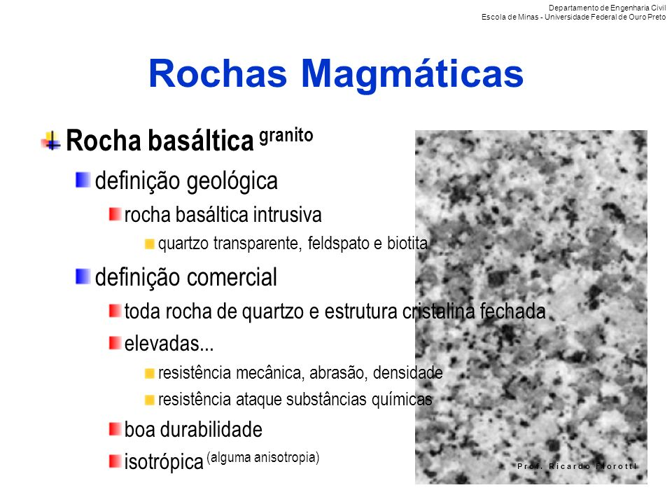 Rochas Magmáticas Rocha basáltica granito definição geológica