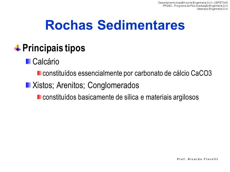 Rochas Sedimentares Principais tipos Calcário
