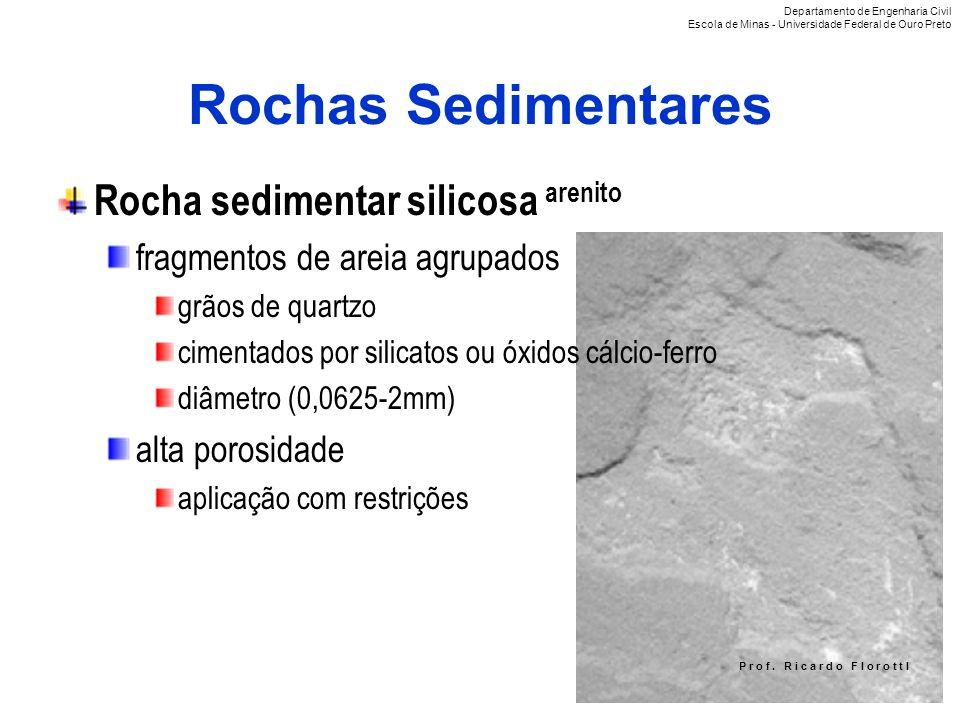 Rochas Sedimentares Rocha sedimentar silicosa arenito