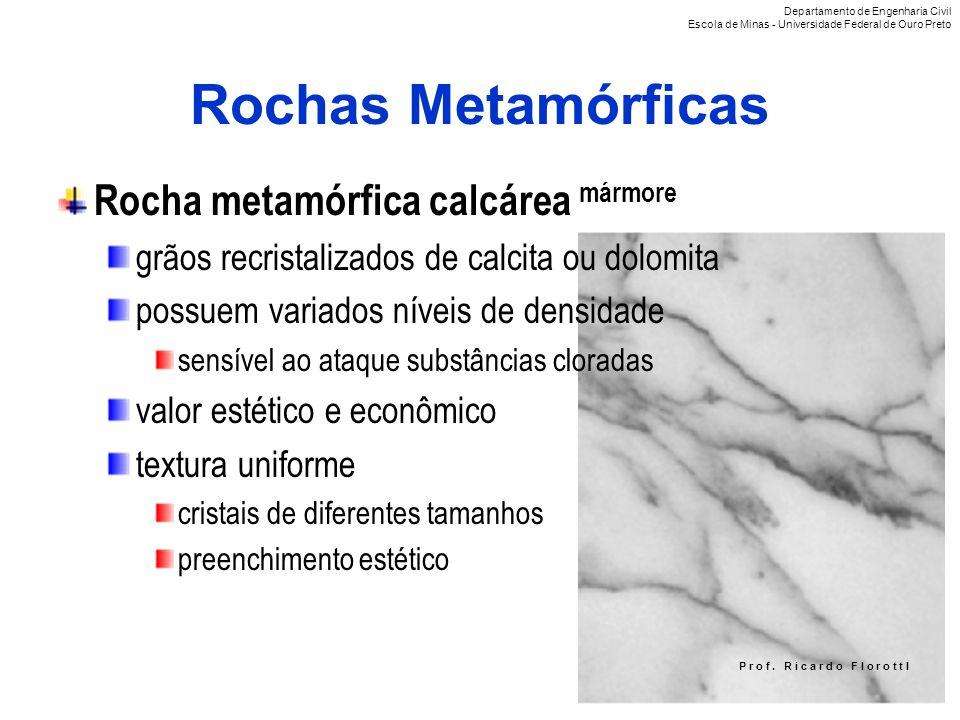Rochas Metamórficas Rocha metamórfica calcárea mármore