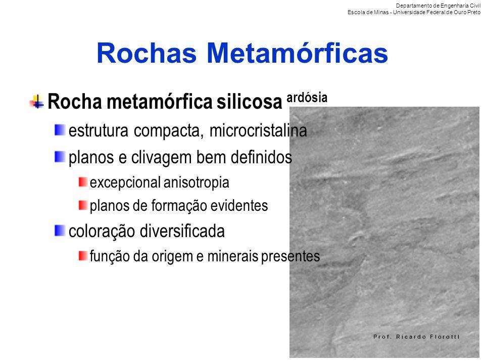 Rochas Metamórficas Rocha metamórfica silicosa ardósia