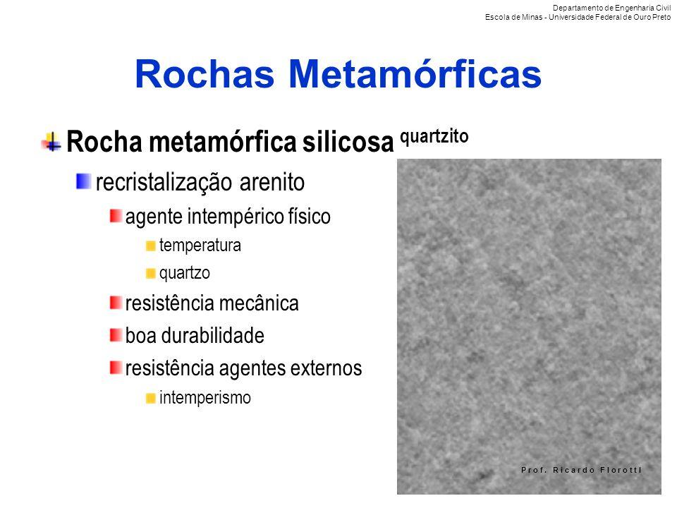 Rochas Metamórficas Rocha metamórfica silicosa quartzito