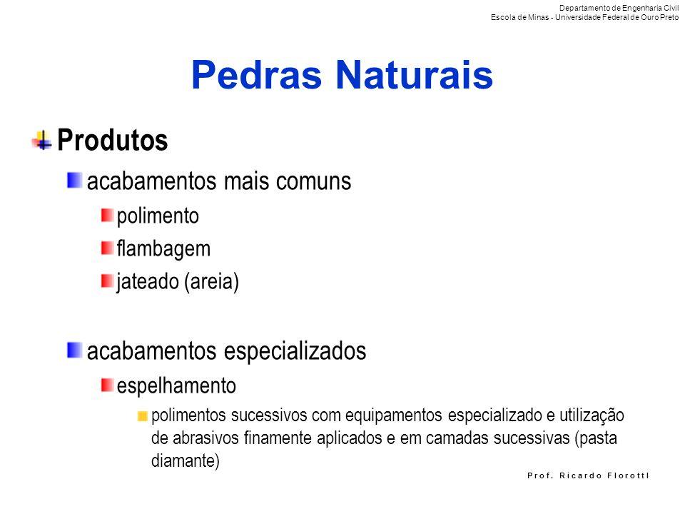 Pedras Naturais Produtos acabamentos mais comuns