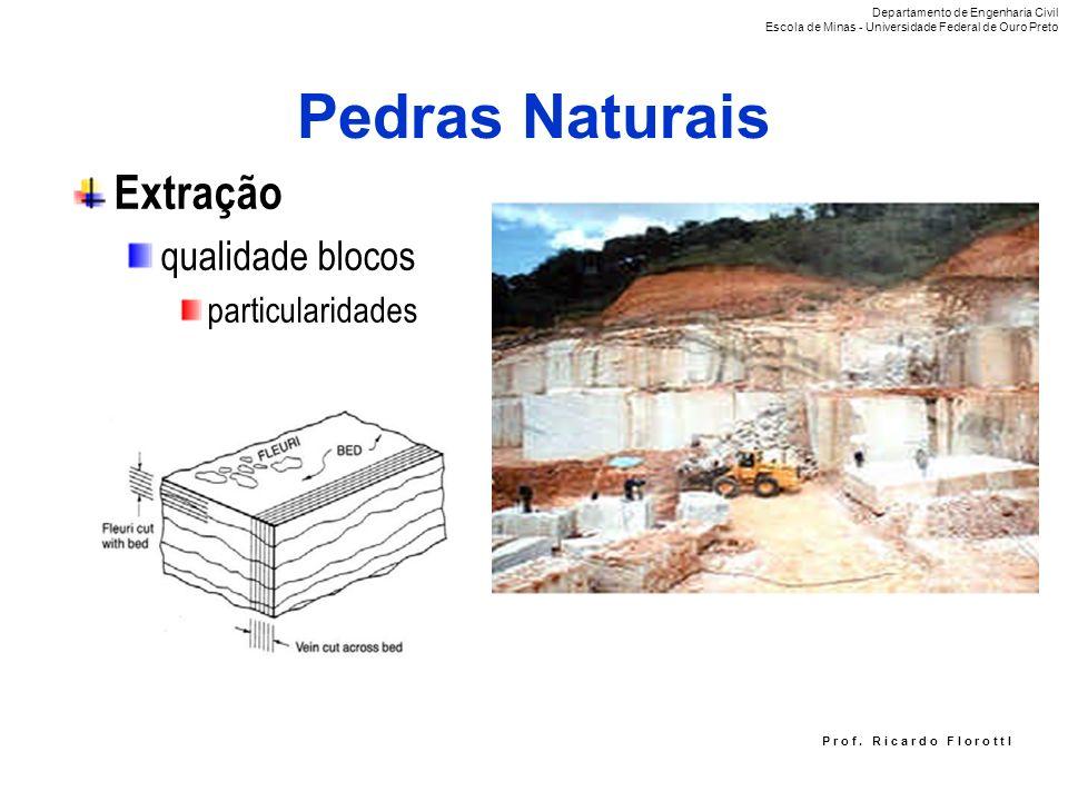 Pedras Naturais Extração qualidade blocos particularidades