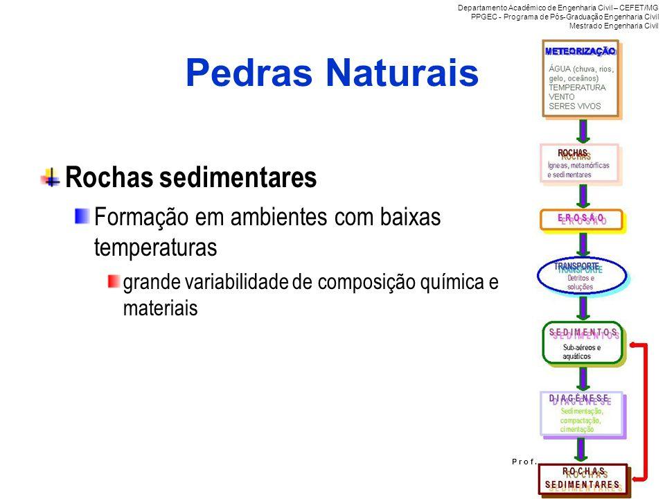 Pedras Naturais Rochas sedimentares