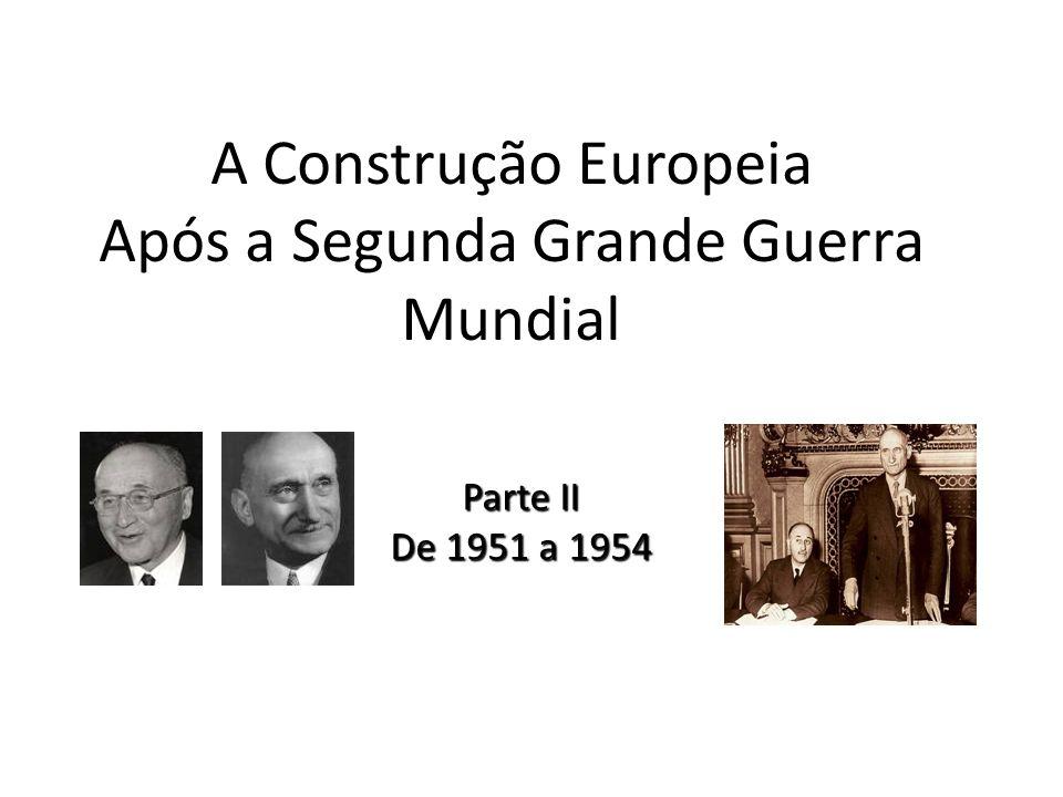 A Construção Europeia Após a Segunda Grande Guerra Mundial
