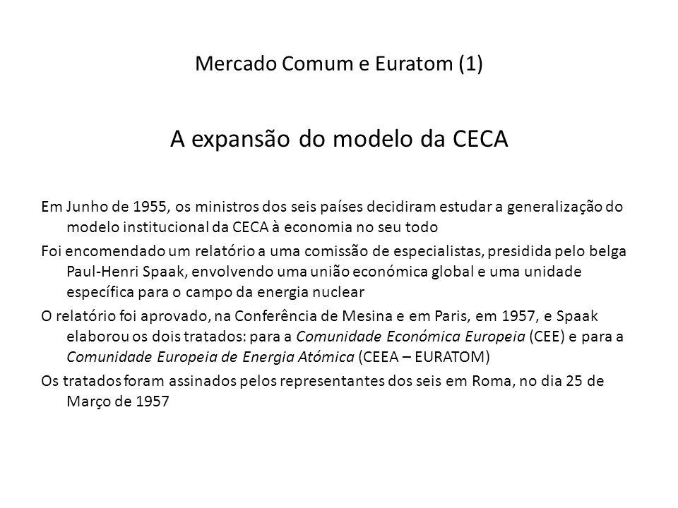 Mercado Comum e Euratom (1)