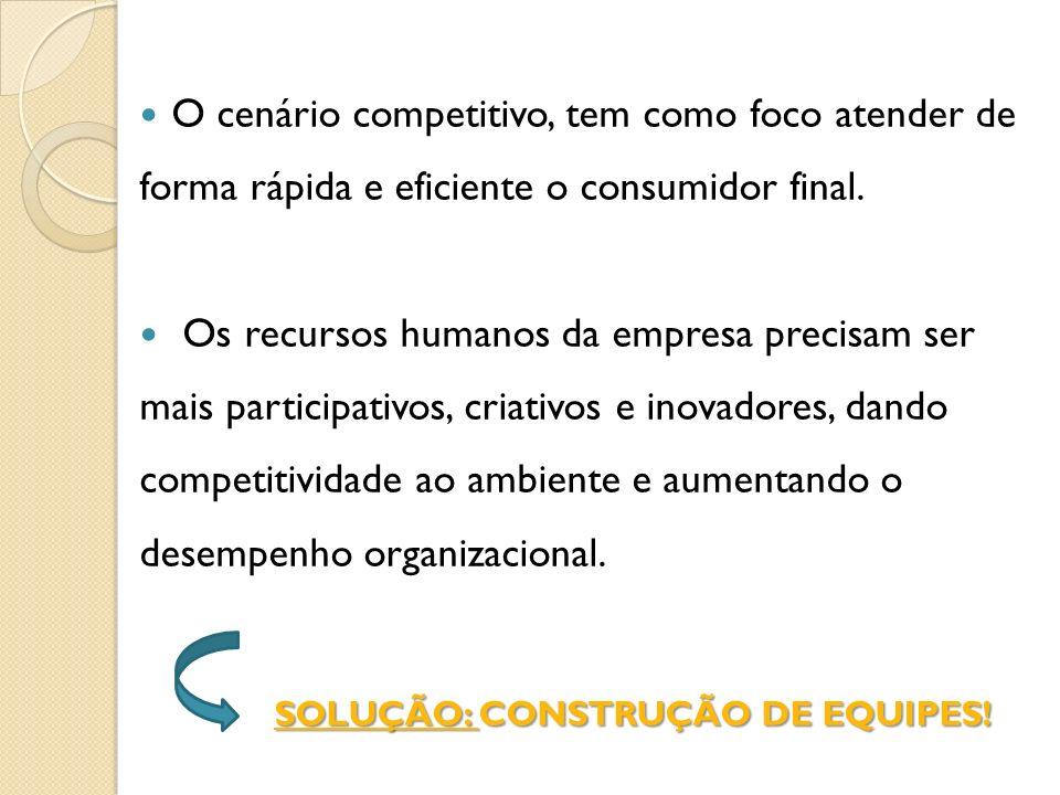 SOLUÇÃO: CONSTRUÇÃO DE EQUIPES!