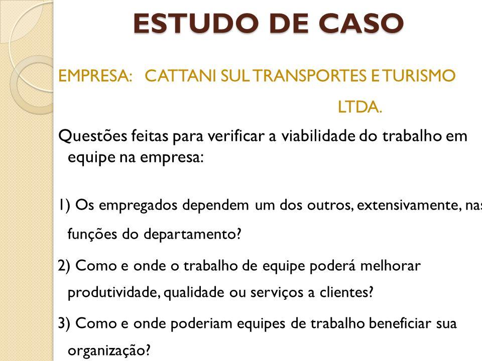 ESTUDO DE CASO EMPRESA: CATTANI SUL TRANSPORTES E TURISMO LTDA.