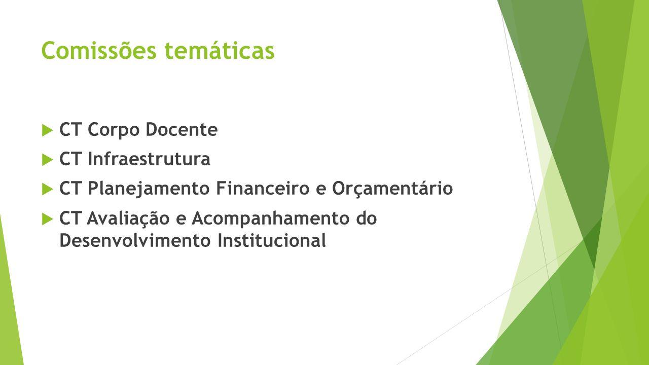 Comissões temáticas CT Corpo Docente CT Infraestrutura