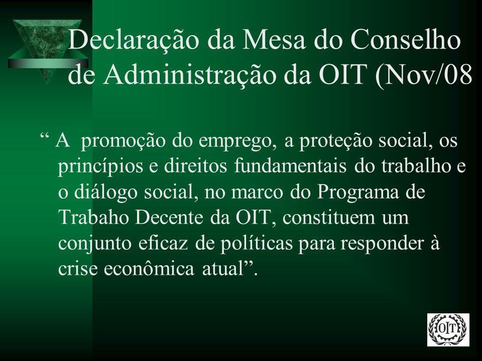 Declaração da Mesa do Conselho de Administração da OIT (Nov/08