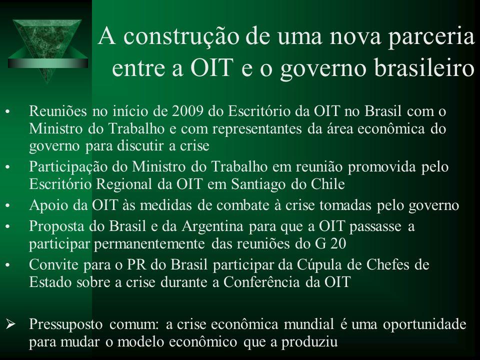 A construção de uma nova parceria entre a OIT e o governo brasileiro