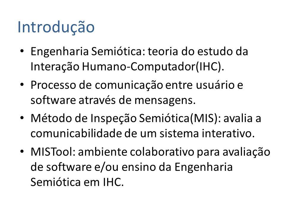 Introdução Engenharia Semiótica: teoria do estudo da Interação Humano-Computador(IHC).