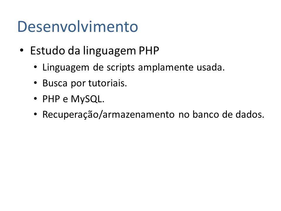 Desenvolvimento Estudo da linguagem PHP
