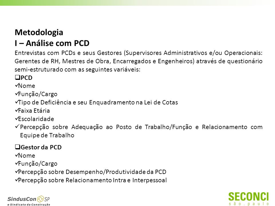 Estudo de Viabilidade para Inserção Segura de PCD na Construção Civil
