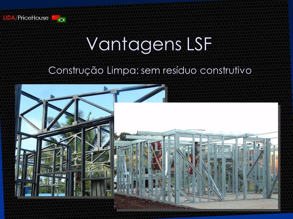 Vantagens LSF Construção Limpa: sem resíduo construtivo