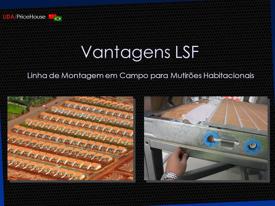Vantagens LSF Linha de Montagem em Campo para Mutirões Habitacionais