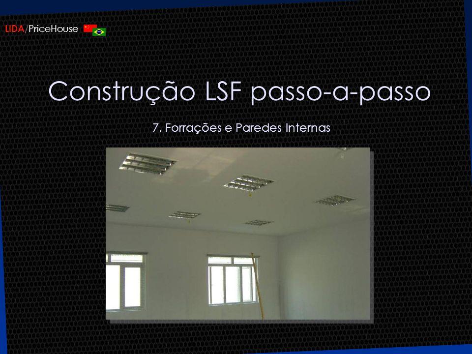 Construção LSF passo-a-passo 7. Forrações e Paredes Internas