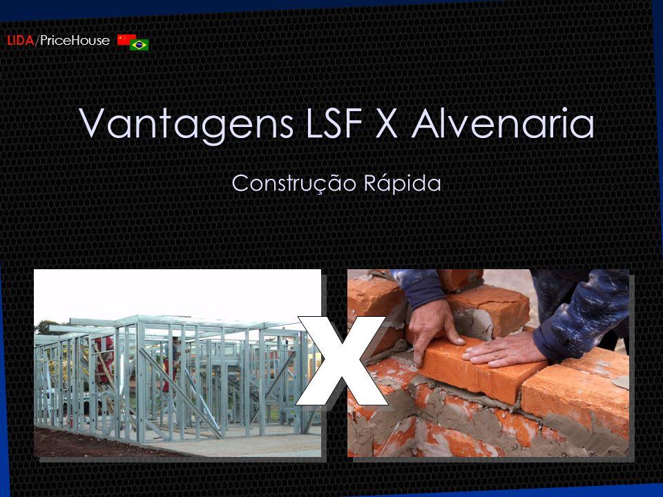 Vantagens LSF X Alvenaria Construção Rápida