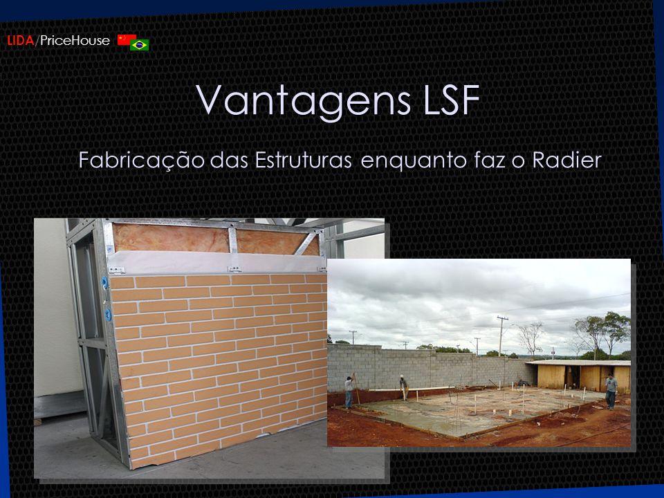 Vantagens LSF Fabricação das Estruturas enquanto faz o Radier