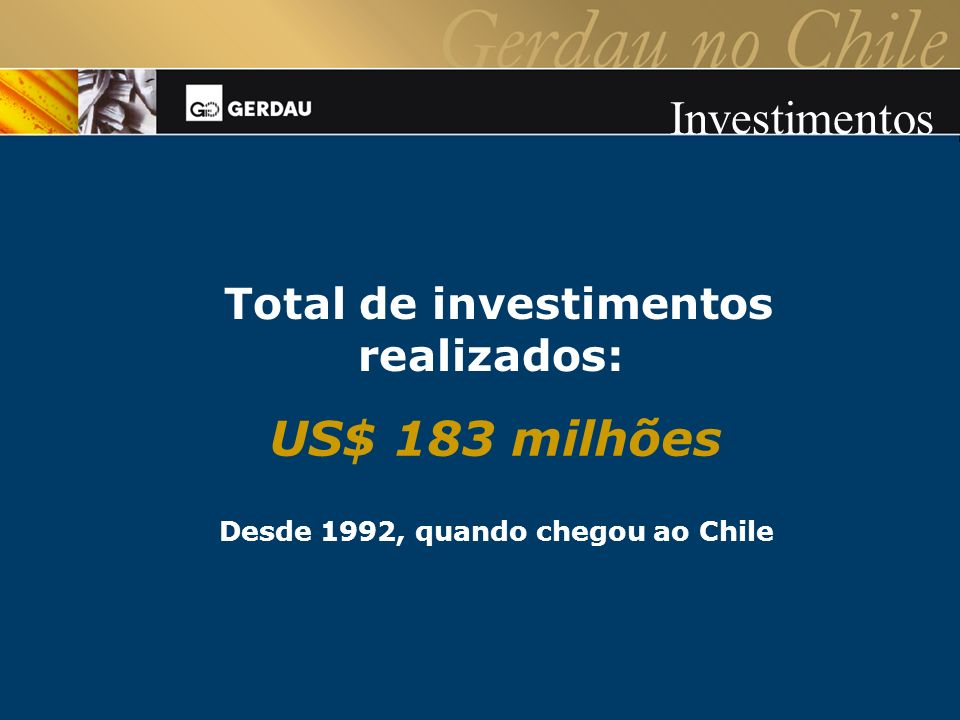 Total de investimentos